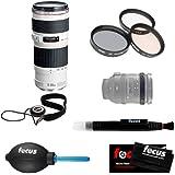 Focus Camera Canon 70-200/4. 0 EF-L USM Zoom Lens + Tiffen 67mm Photo Essentials Filter Kit + Lens Band Stop Zoom...