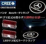1年間保証!メルセデスベンツ カーテシ #032T LED レーザーロゴライト アンダースポット / ドアレーザーライト / カーテシライト 配線不要 / 純正交換タイプ  【適合車種】 Aクラス W176 / Bクラス W246 / Cクラス W205(2015) / Eクラス W212 / GLクラス X166 / GLクラス X164 / MLクラス W166 / Mクラス W166 / C Coupe(Two door) / GLA