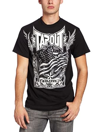 TapouT Men's Skull Beater Tee, Black, Medium