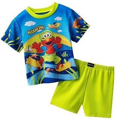 """Sesame Street Elmo """"Summer Fun"""" Pajama Set - Toddler (2T) front-956899"""