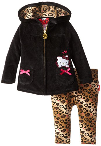 Hello Kitty Baby Girls' Velour Active Set (Baby) - Anthracite - 6-9 Months front-728971