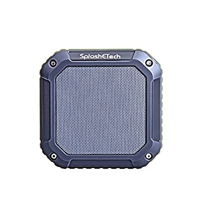 SplashETech 2015 Latest Launch Rugged Military Style Portable Bluetooth Speaker, Splashproof/ Shockproof/ Dustproof Outdoor Wireless Bluetooth Speaker with Robust Bass and Longer Playtime, Best Companion for Traveling/ Camping/ Hiking/ Picnic/ Cycling /Sh