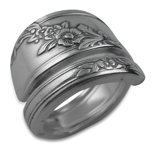 Silverware Ring, Queen Bess II By Oneida, Sizes 6-12 (8) (Spoon Ring Oneida compare prices)