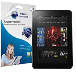 Tech Armor HD Clear Screen Protector with Lifetime Replacement Warranty for Amazon New Kindle Fire Tablet HD 7