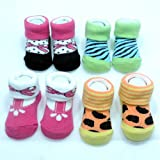 Luvena Fortune - Gift Pack Of 4 Baby Socks (0-12 M)