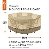 Classic Accessories 78942 Veranda Patio Table & Chair Set Cover, Large