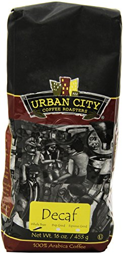 Urban City Coffee Urban Decaf Whole Bean, 16-Ounce Bags (Pack Of 2)