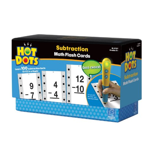 Educational Insights Hot Dots Math Flash Cards Subtraction - 1