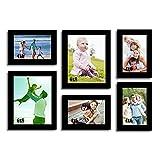 Decorous Black Wall Photo Frame - Set Of 6 Individual Photo Frame
