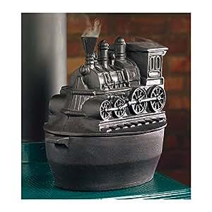 Train Woodstove Steamer, in Black