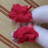 Baby Toddler Infant Girl Boy Cotton Shoe Ties Flower Slippers Sandal Red