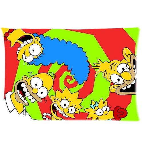 """Custom Homer Simpson 50,80 x 30 cm x 76,20 (20"""") crazy Federa per cuscino con cerniera, 2 lati"""