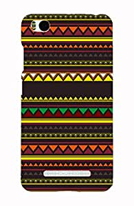 Back Cover for Xiaomi Mi4i abstract aztec brown