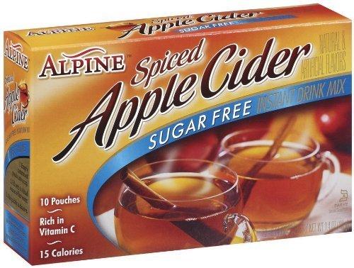 Alpine Spiced Cider, Sugar-Free Apple Flavor Drink Mix, 10 Count Boxes