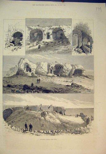 1882 Sandown Castle Deal Ruins Country Antique Print
