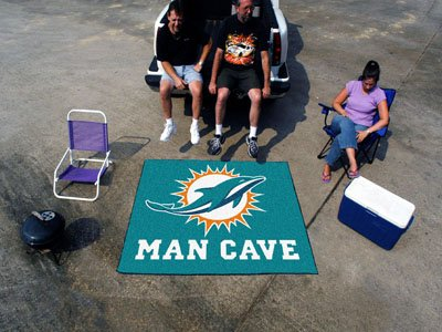"Miami Dolphins Man Cave Tailgater Rug 60""x72"" - FAN-14327"