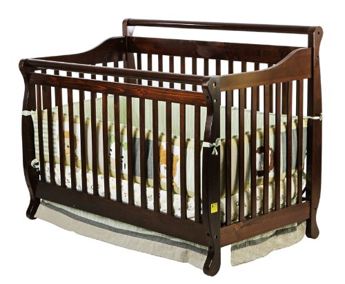Dream On Me Liberty Collection 4 in 1 Crib, Espresso
