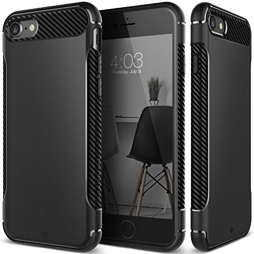 iPhone 7 Case, Caseology [Vault Series] Flexible TPU Slim Body Shield [Matte Black] [Stealth Armor] for Apple iPhone 7 (2016)