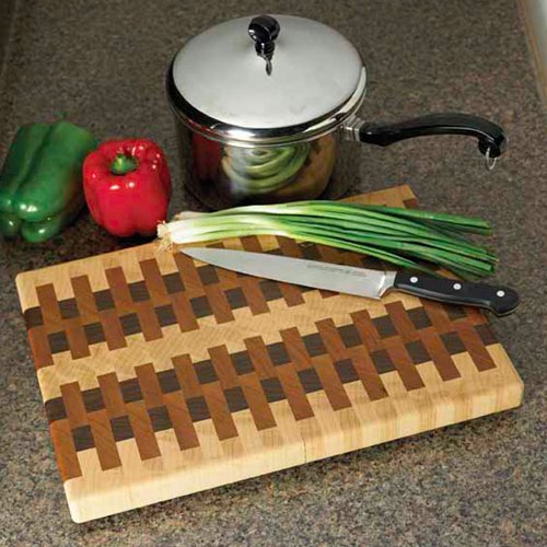 End-grain cutting board: Downloadable Woodworking Plan
