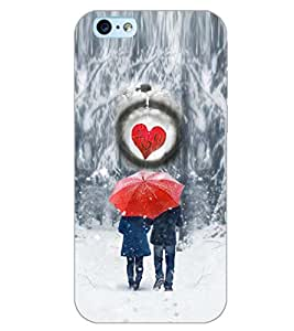 PrintDhaba LOVE COUPLE D-6400 Back Case Cover for APPLE IPHONE 6 (Multi-Coloured)