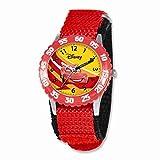 Disney Cars Lightning McQueen Red Velcro Band Time Teacher Watch