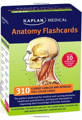 Amazoncom Kaplan Anatomy Coloring Book 9781419550409