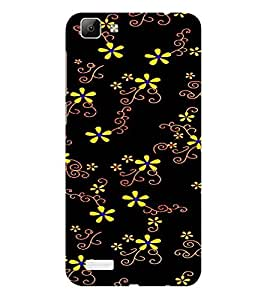 ifasho Animated Pattern colrful design flower with leaves Back Case Cover for VIVO Y53
