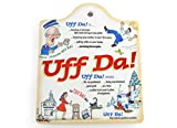 Uff Da! Porcelain Cheeseboard with Cork Backing