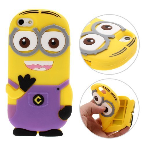 3D-Despicable-Me-II-Minions-Style-Silicone-Case-for-iPhone-5-5S-Blue
