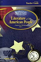 Literature of the American People, Teacher…