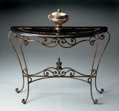 Image of Demilune Console Table by Home Gallery Stores - Metalworks (7067025) (B004ZSYCQ6)