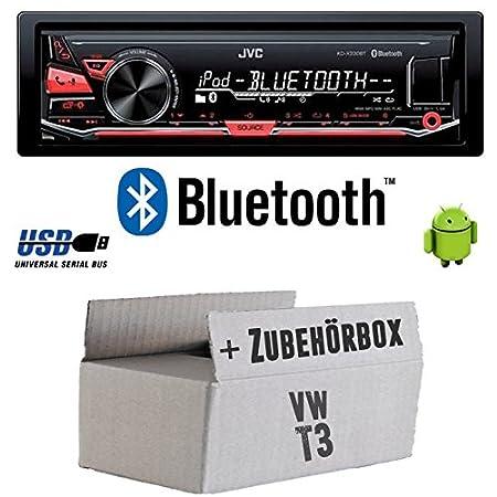VW Bus T3 - JVC KD-X330BT - Bluetooth MP3 USB Autoradio - Einbauset
