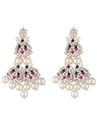 Bel-en-teno Pink & Green Alloy Earring Set For Women - B00PY9YAFS