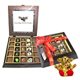 Chocholik Belgium Gifts - Exotic Flavours Of Chocolates With Small Ganesha Idol - Diwali Gifts
