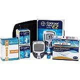 Contour Next Diabetes Testing Kit - Contour Next Ez Meter, 100 Bayer Contour Next Test Strips, 100 30g Lancets, 1 Lancing Device, 100 Alcohol Prep Pads and Control Solution...