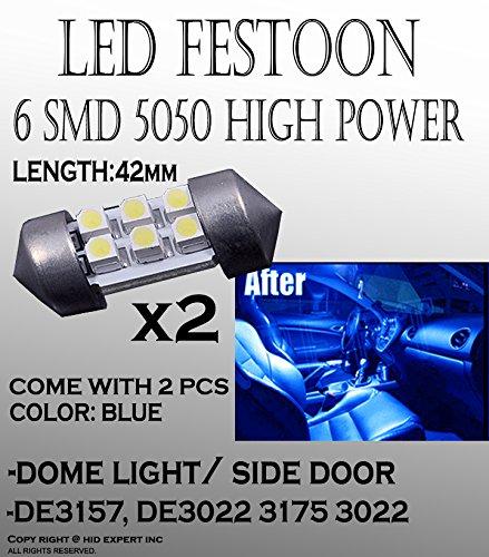 2pcs 42mm 560 578 LED Car doom Light Bulbs 6-SMD Car Lamp Festoon Blue Bulbs #2 (2003 Dodge Dakota Accessories compare prices)