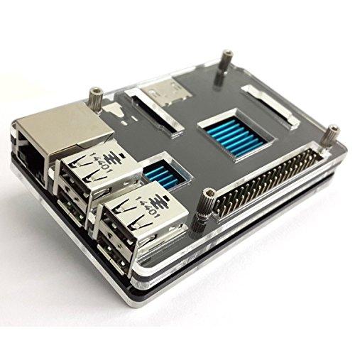 IVSO Protective Case for Raspberry Pi 2 Model B + Set of 3x Heatsinks (2x Copper / 1x Aluminium), Raspberry Pi 2 Model B NOT Included