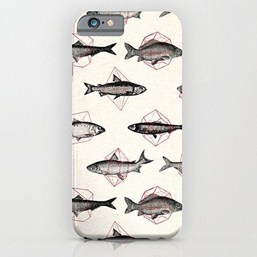 society6(ソサエティシックス) iPhone6(4.7インチ)ケースジオメトリックスの魚 Fishes In Geometrics (Red)並行輸入品