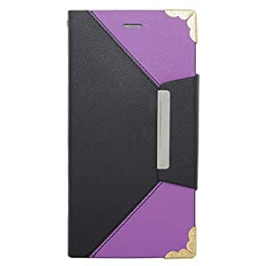 Eagle Cell Flip Wallet Two for Apple iPhone 6 Plus - Retail Packaging - Black/Purple