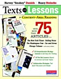img - for Texts and Lessons for Content-Area Reading: With More Than 75 Articles from The New York Times, Rolling Stone, The Washington Post, Car and Driver, Chicago Tribune, and Many Others book / textbook / text book