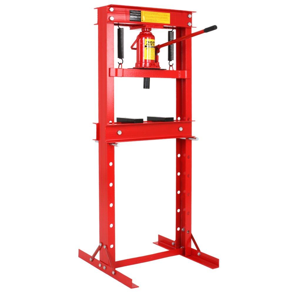 Werkstattpresse Lagerpresse inkl. Hydraulikpumpe und 2x Druckplatten Hydraulikpresse Dornpresse (max. 20T)  BaumarktKritiken und weitere Informationen