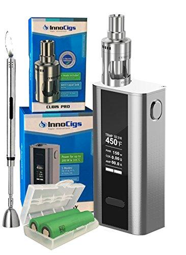 e-Zigarette-Joyetech-Innoci-Cuboid-150-200W-Cubis-PRO-2x-Sony-VTC6-6240-mAh-Stabfeuerzeug-GRATIS