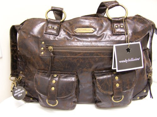 Wendy Bellissimo Crackle Suede Diaper Bag - 1