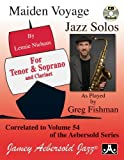 img - for Play-A-Long Series, Vol. 54: Maiden Voyage - Tenor and Soprano Sax Solos (Book + CD Set) book / textbook / text book