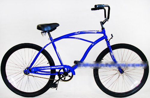Micargi Touch, blue, Men's 1-speed Beach Cruiser Bike Schwinn Nirve Firmstrong Style