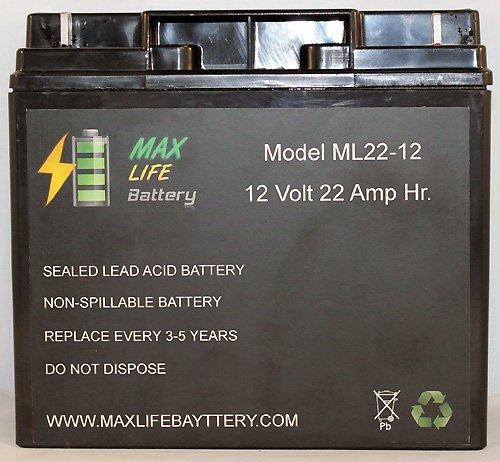 12V 22Ah Battery Replaces Cb19-12, Es1217, Ub12200, Lc-Rd1217P