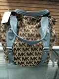 Michael Kors &#8216;Lattington&#8217; ** Large Drawstring Tote / Light Blue Handbag Reviews
