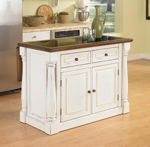 Cheap Home Styles 5021-94 Monarch Kitchen Island with Granite Top, Antiqued White Finish (5021-94)
