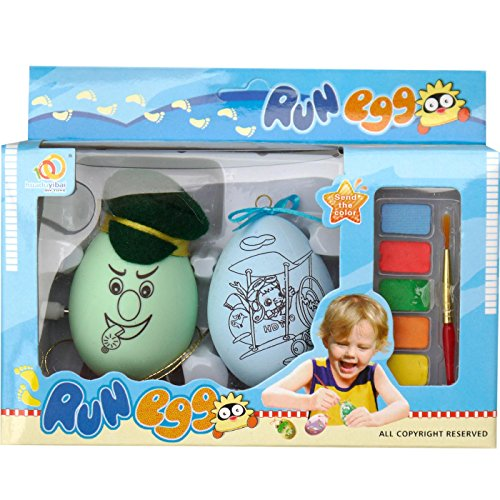 Easter Egg Painting Kit with Clockwork Windup Walking Egg,Postman,Pack of 2,T00078 - 1