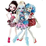 Monster High Doll Exclusive Dot Dead Gorgeous ~ 3 Pack Draculaura Abbey Bominable Ghoulia Yelps